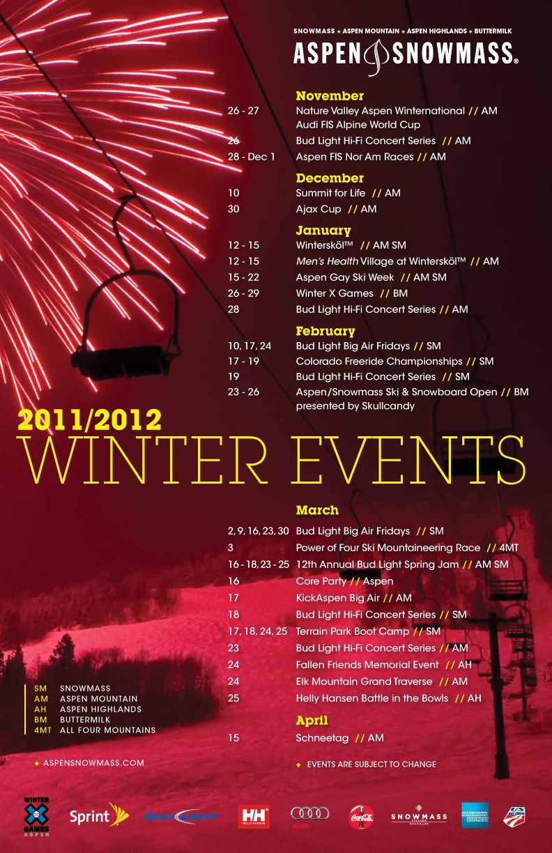 Poster design for events - Calendar Of Events Design Ideas