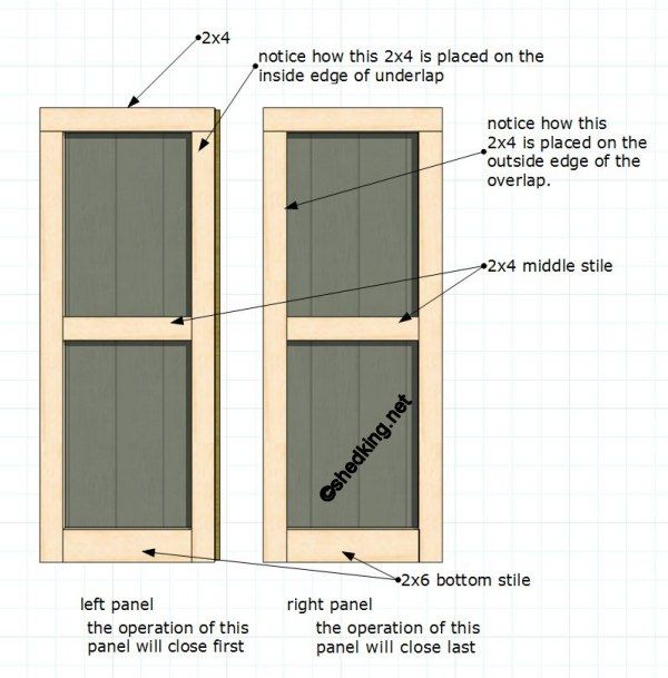 Double Shed Doors Shed Plans Building A Shed