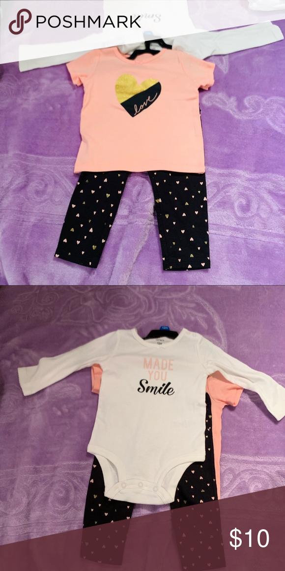 5 pink Carters Heart Dot S//S Sweatshirt Tunic