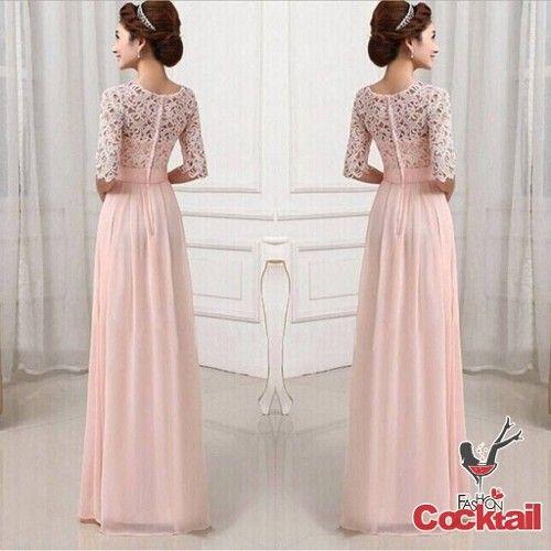Romantik Dantel Japon Style Dugun Nisan Uzun Elbise 6 Farkli Renk 52774487 The Dress Nedime Giysileri Uzun Elbise