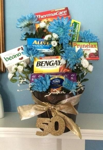 Best Gift For 40 Year Old Man Age Remedies Tucked Into A Flower Arrangement Is Comforting Idea Birthday See More Gag Gifts