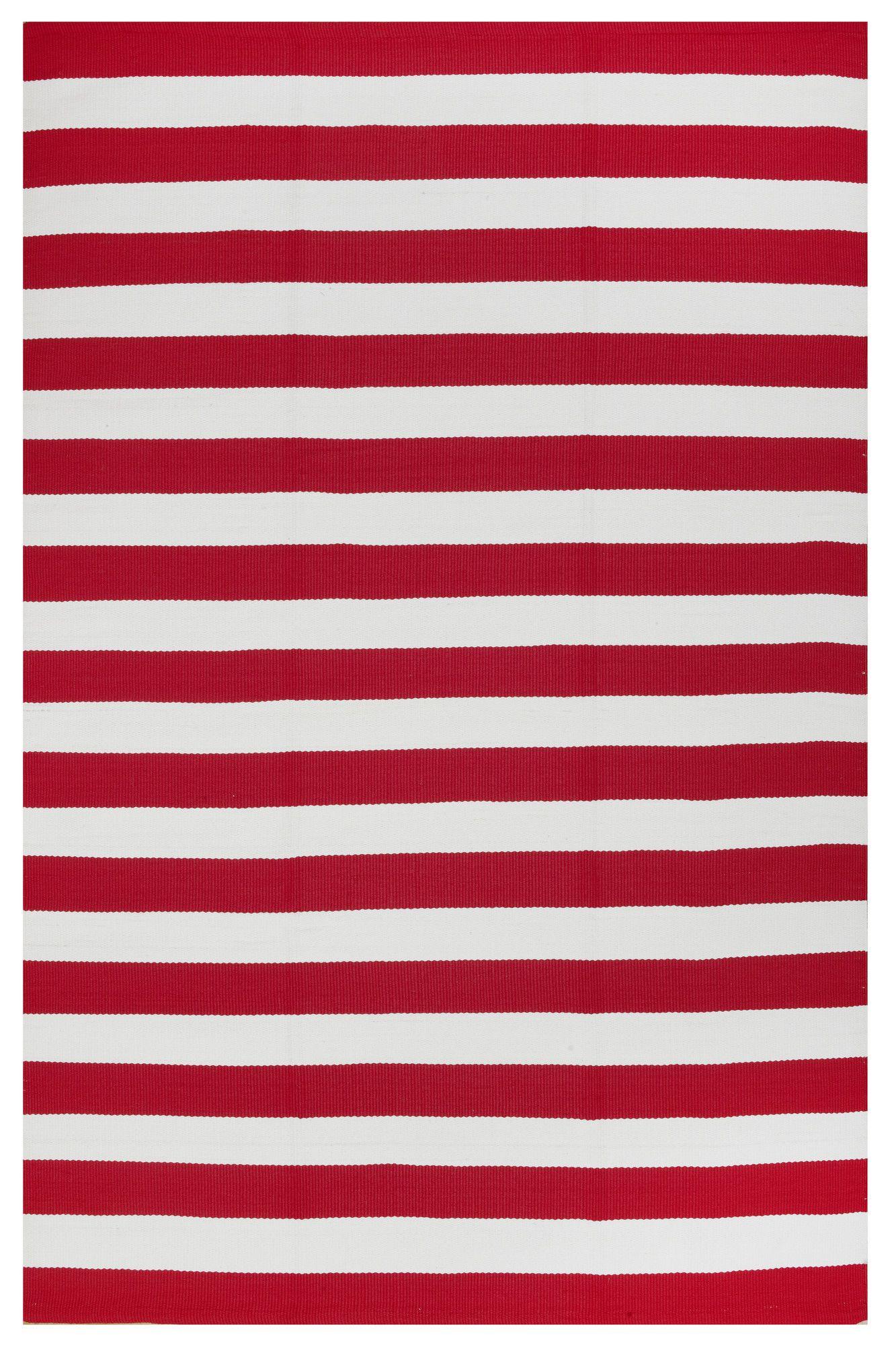 Fab Rugs Nantucket Redwhite Striped Rug Wayfair Design For