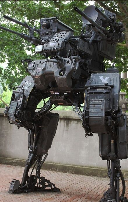 Mech Made With Car Parts By Progv Sculptures Pinterest Art