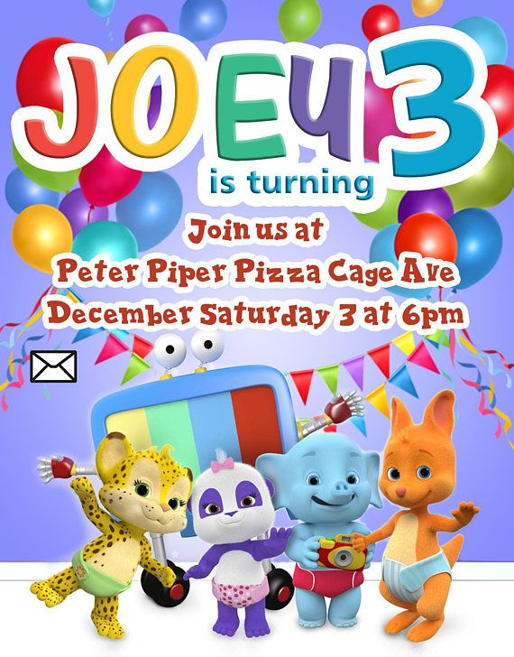Word Party Theme Birthday Borthday Invitation PDF Pr