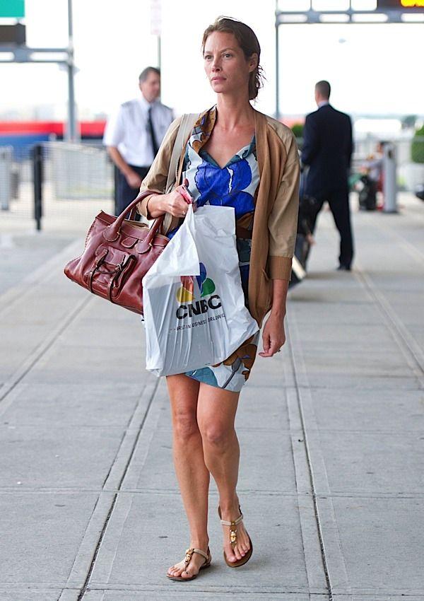 661942a83dfa Christy Turlington travels with old school Chloe Chloe Bag