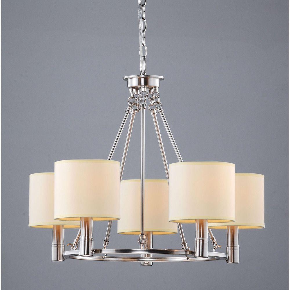 Nickel Dining Room Chandeliers: Indoor 5-light Antique Nickel Chandelier