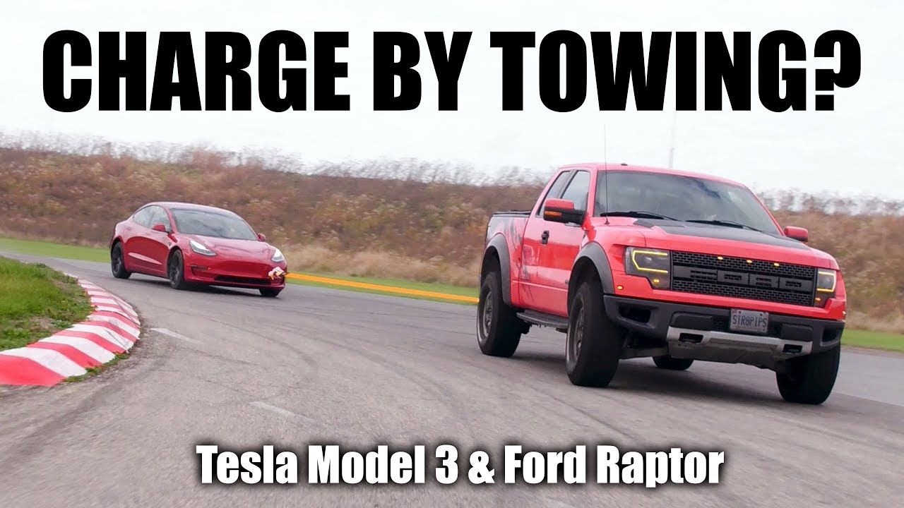 Can you towcharge a tesla ford raptor tesla towing