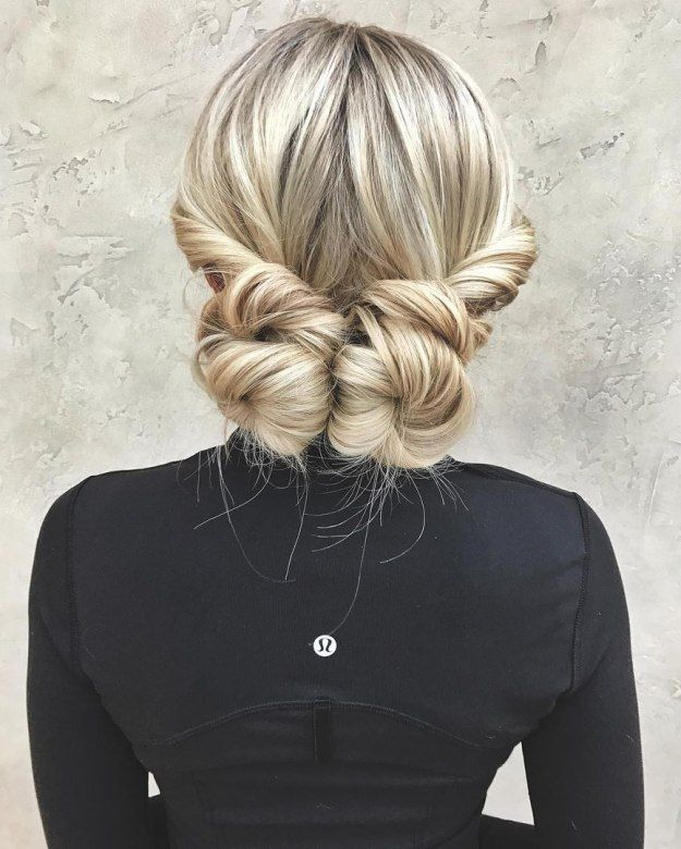 Two Low Buns For Long Hair Bun Hairstyles For Long Hair Long Hair Styles Hair Styles
