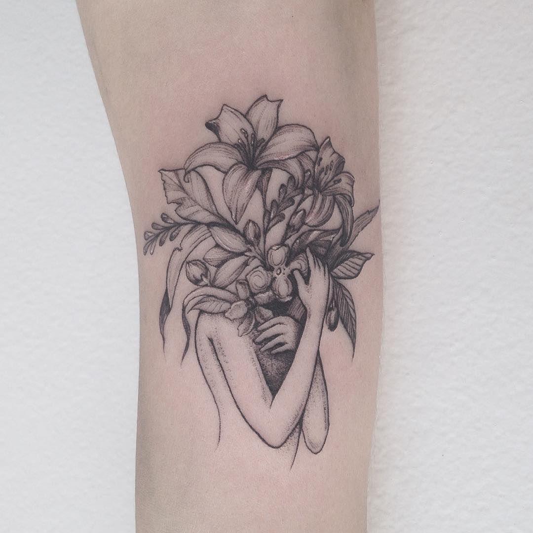 Tattoo Ideas Pinterest: Flower Girl Tattoo Pinterest: @rosajoevannoy