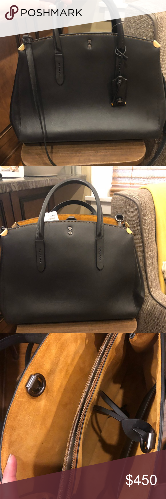 994dd26387bc Coach Cooper Carryall NWOT Gorgeous Coach black glove tanned leather bag. Cooper  Carryall. Still currently on their website for  595.