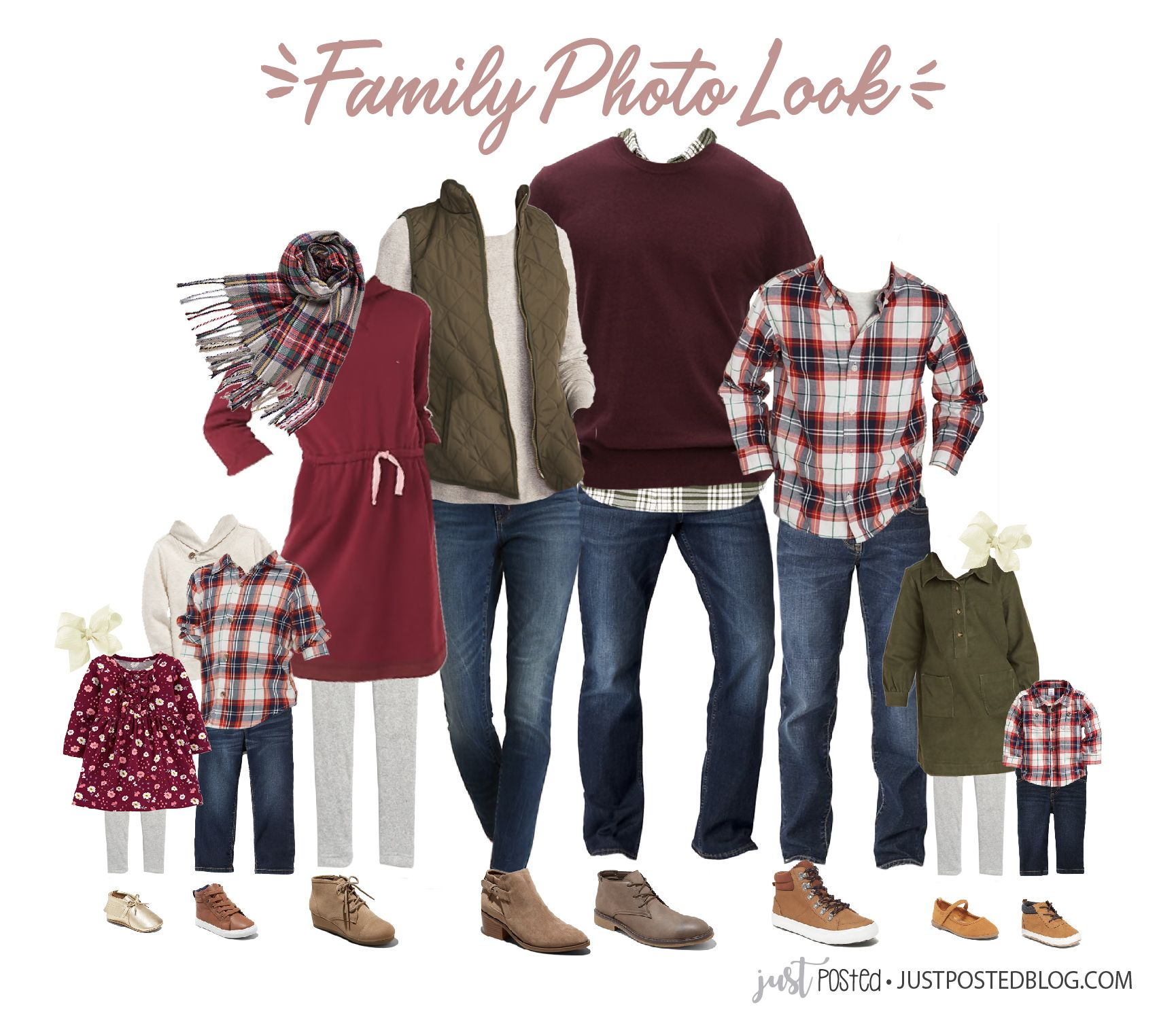 What to Wear for Family Pictures: Fall, Christmas and Holiday Look Ideas #familyphotooutfits