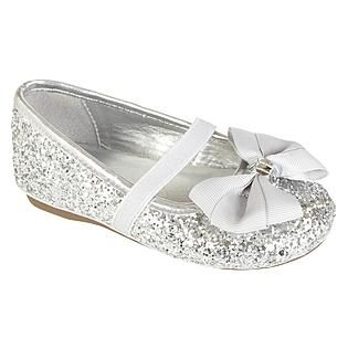 82a40b45a051 Silver flower girl shoes