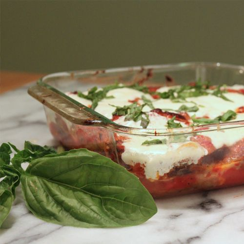 Eggplant Parmesan: Dipping eggplant slices in an assembly line of seasoned flour, beaten eggs and fresh breadcrumbs is an ideal activity the whole family can enjoy. #KidsCookMonday #MeatlessMonday