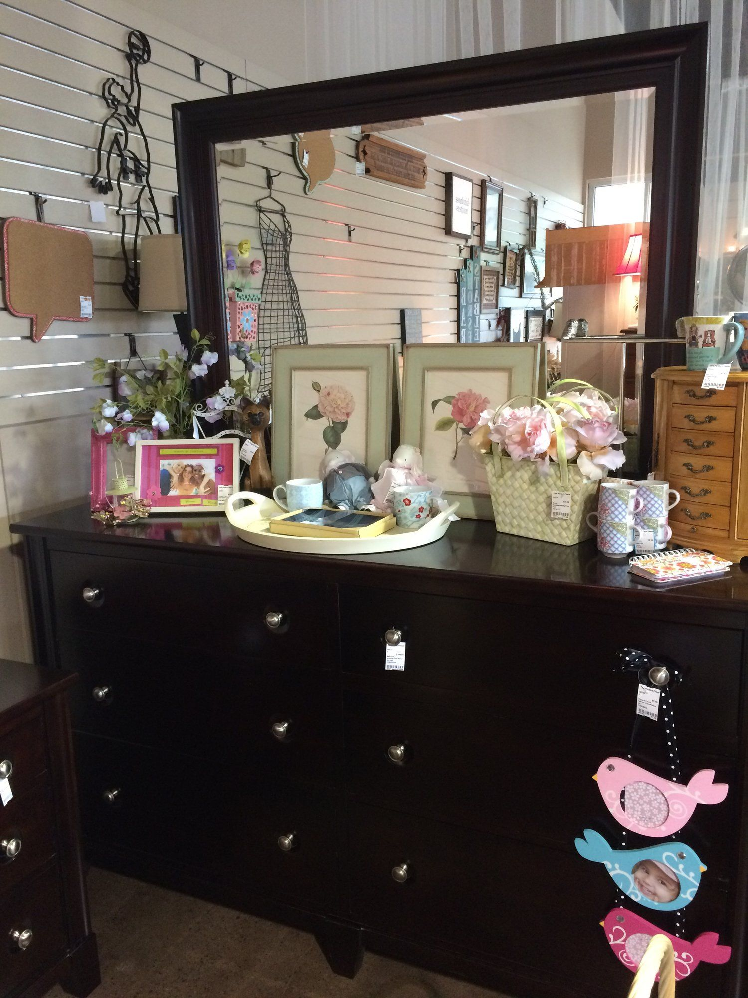 This Dark Wood Dresser With Mirror Was Made By Durham Furniture In