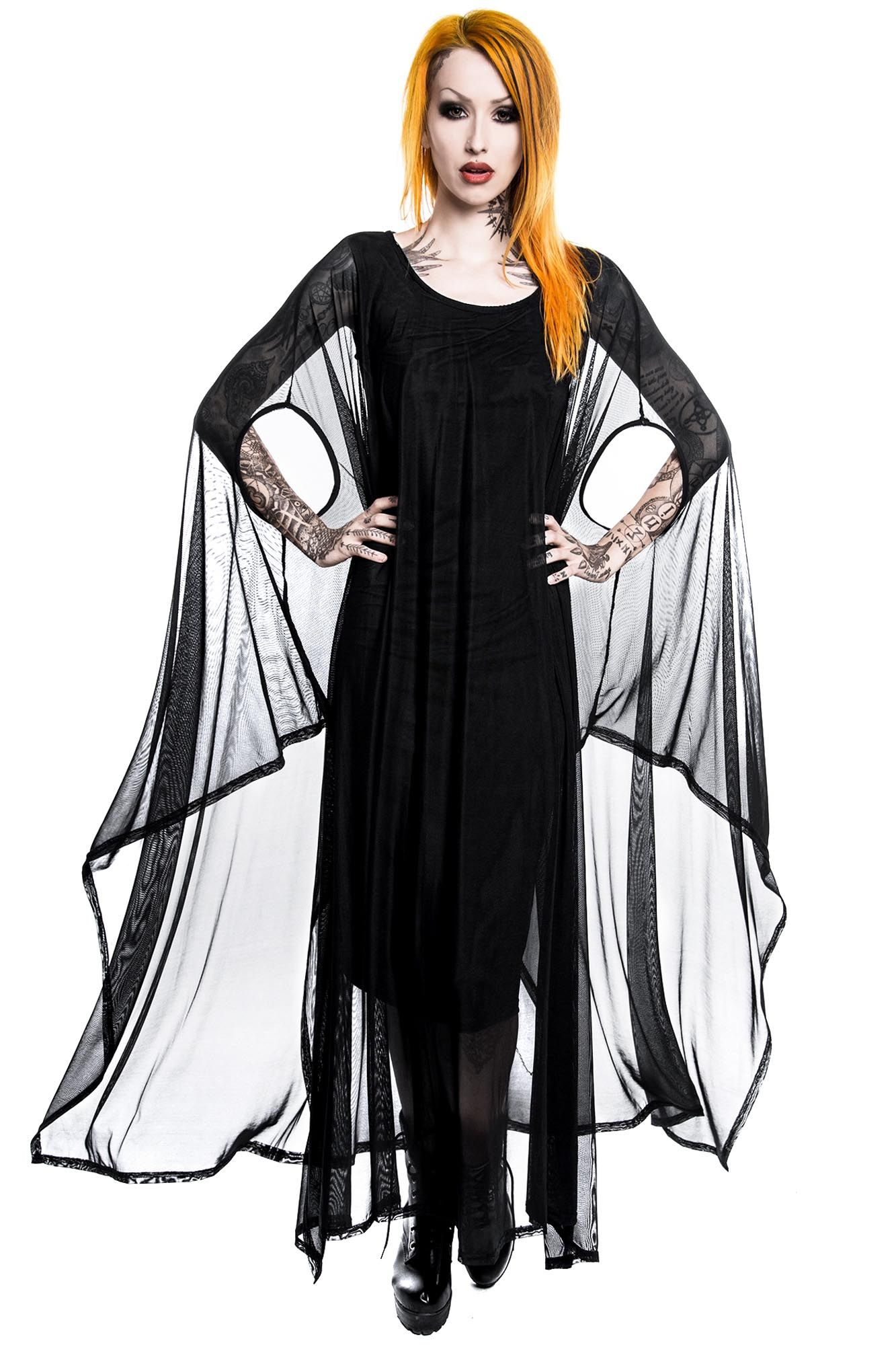 Mystic Hannah Hell Mesh Maxi Dress 'killstar, #gothdress, #goth, #witchy, #gothclothing