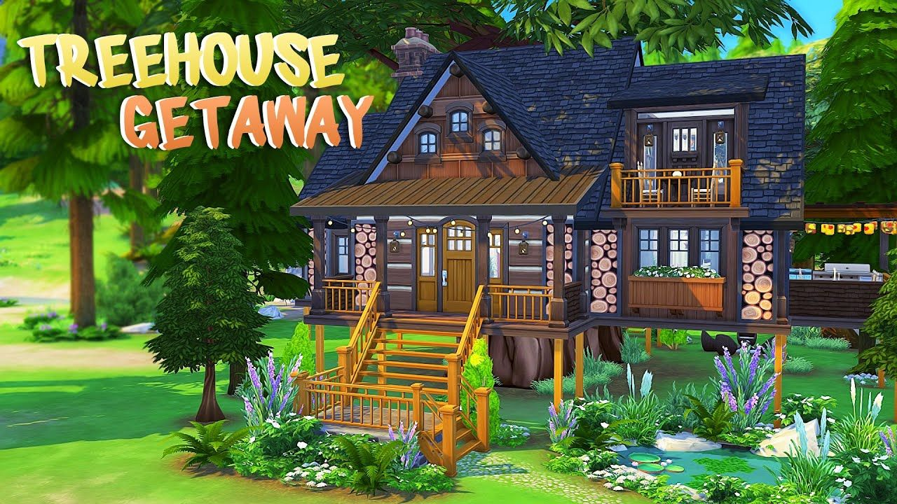 Treehouse Getaway The Sims 4 Speed Build Sims House Sims Tree House