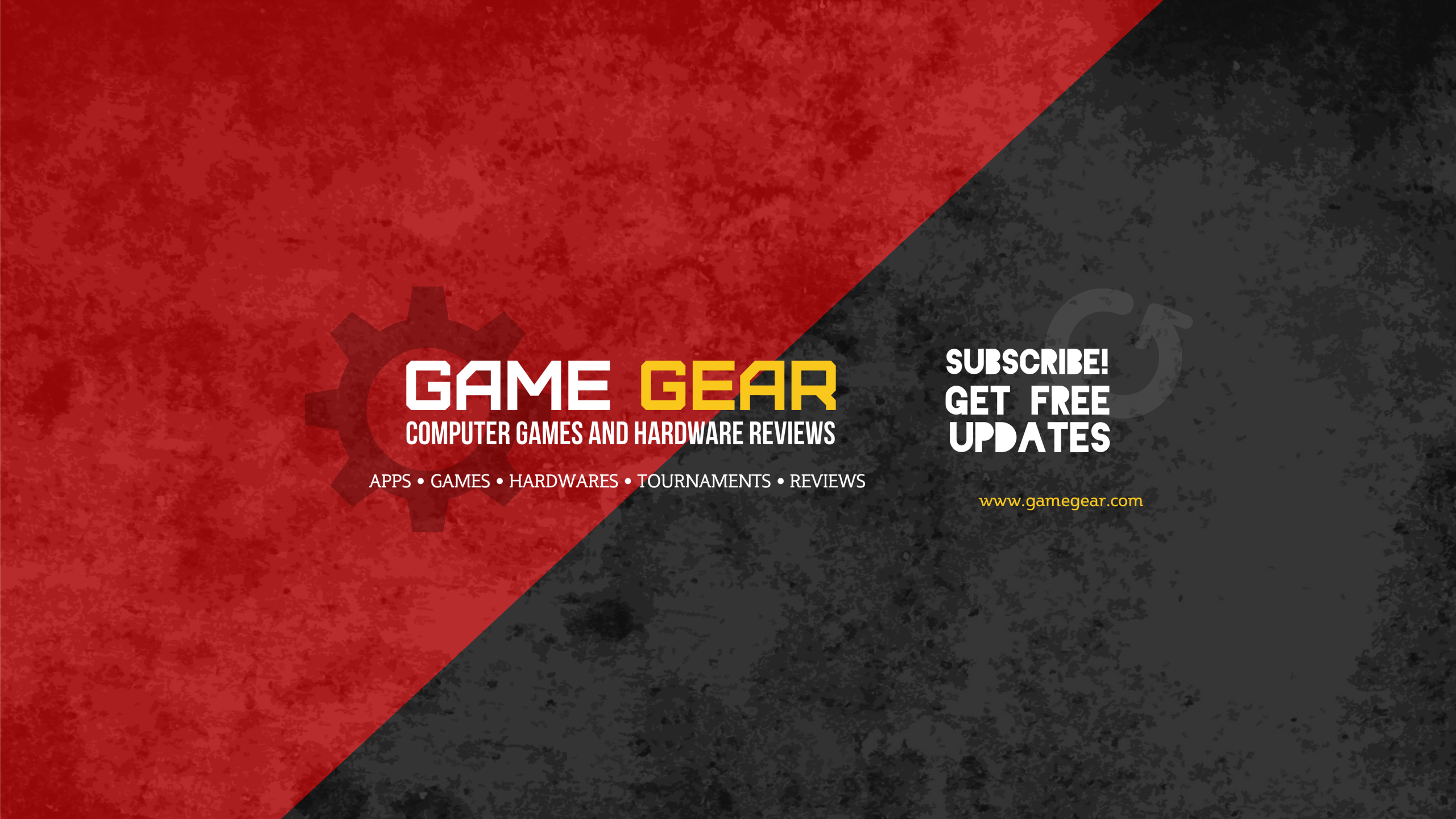 Template For Youtube Channel Art Game Gear Theme Cool Designs