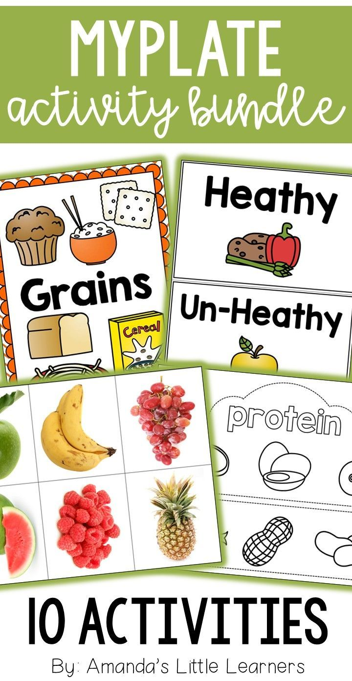 Learn about the different food groups and the myplate diagram with this set  of activities.