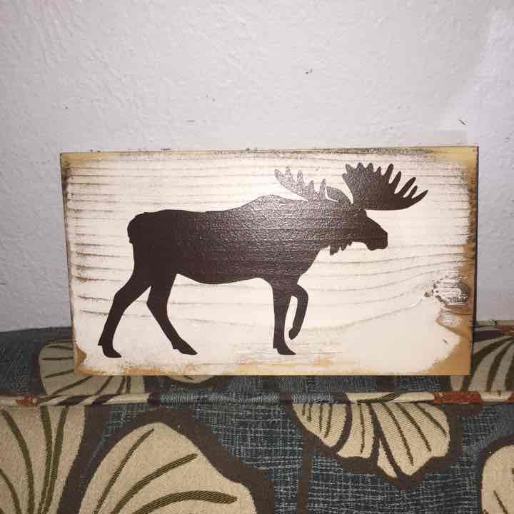 Distressed Moose Wood Sign - Mercari: Anyone can buy & sell
