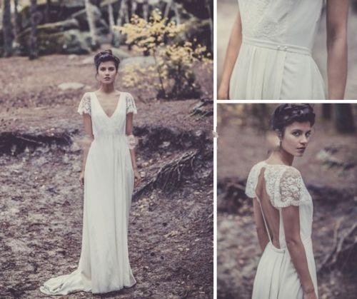 Vintage-White-Ivory-Bridal-Gown-Wedding-Dress-Custom-Size-2-4-6-8-10-12-14-16-18