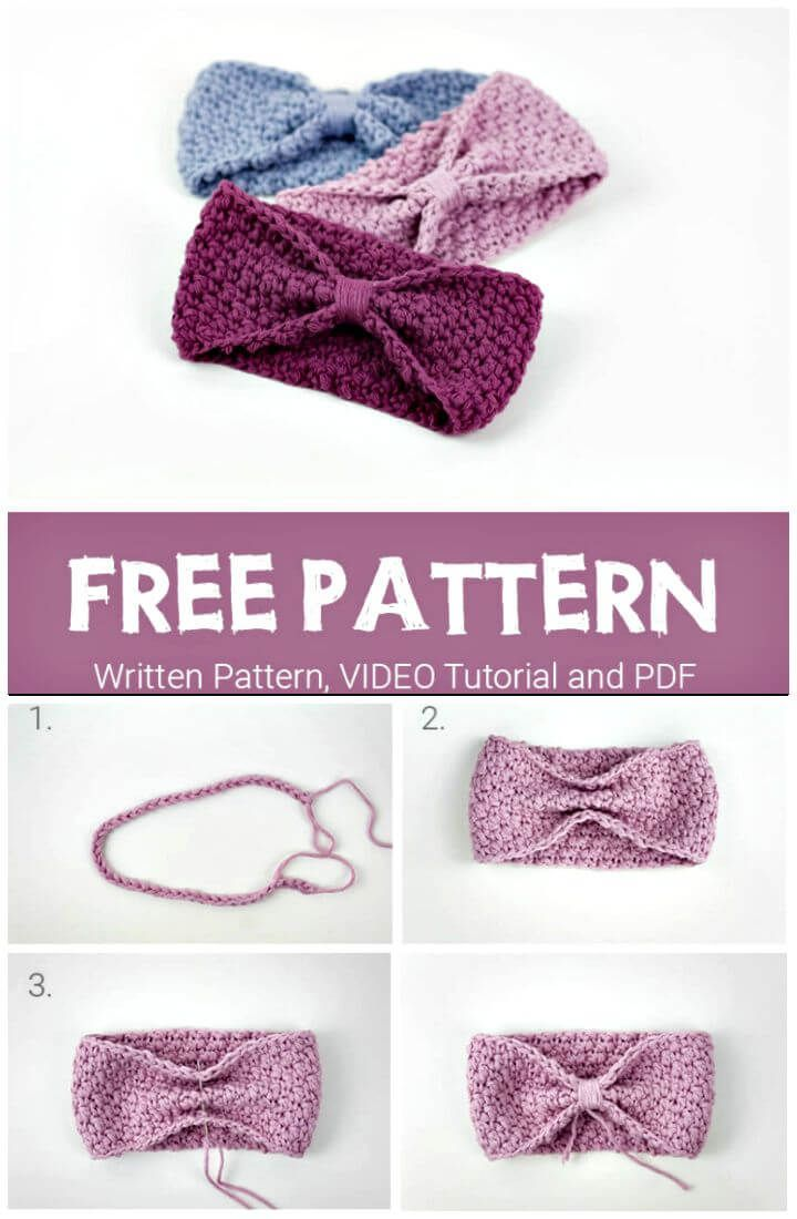 Crochet Headbands for Babies - 28 Free Patterns | Crochet, Crocheted ...