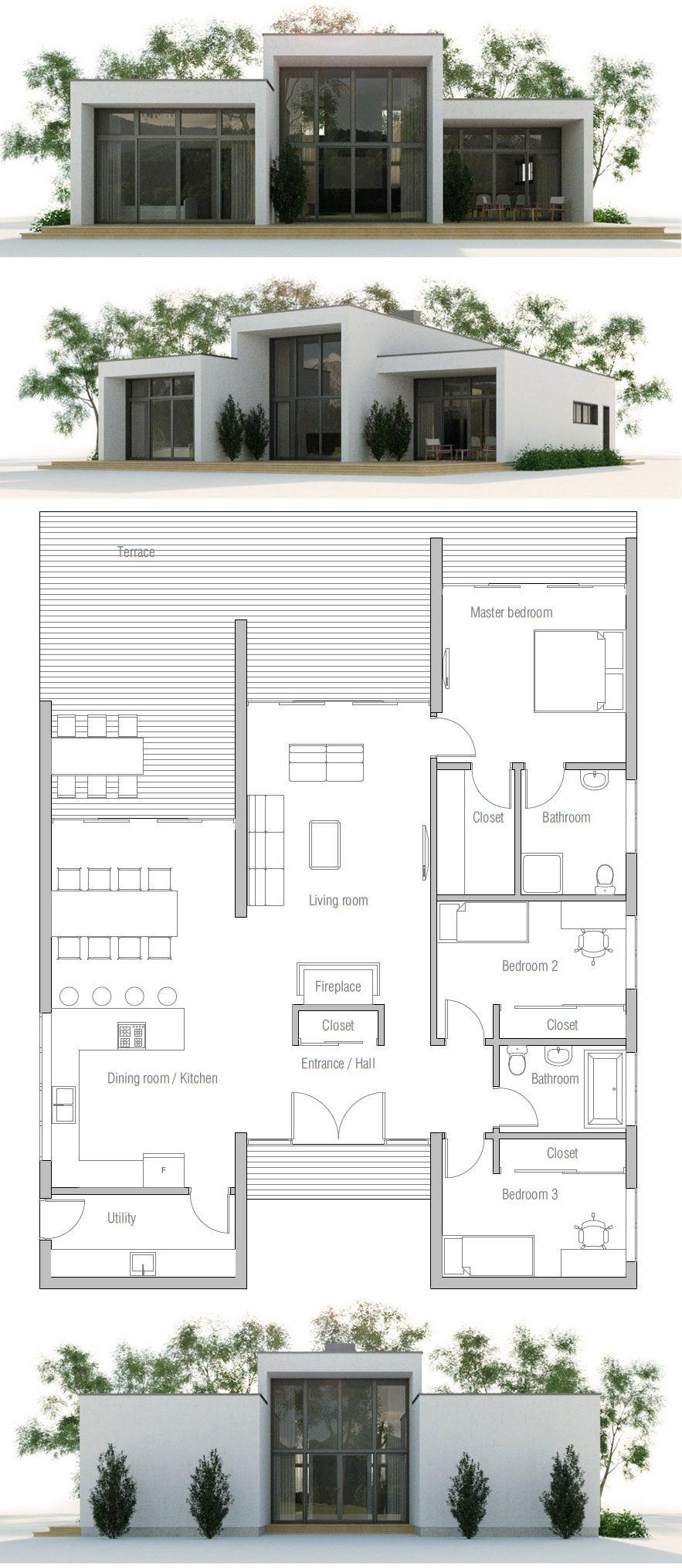 House Plan Ch379 Modern Minimalist House Container House Plans Minimalist House Design