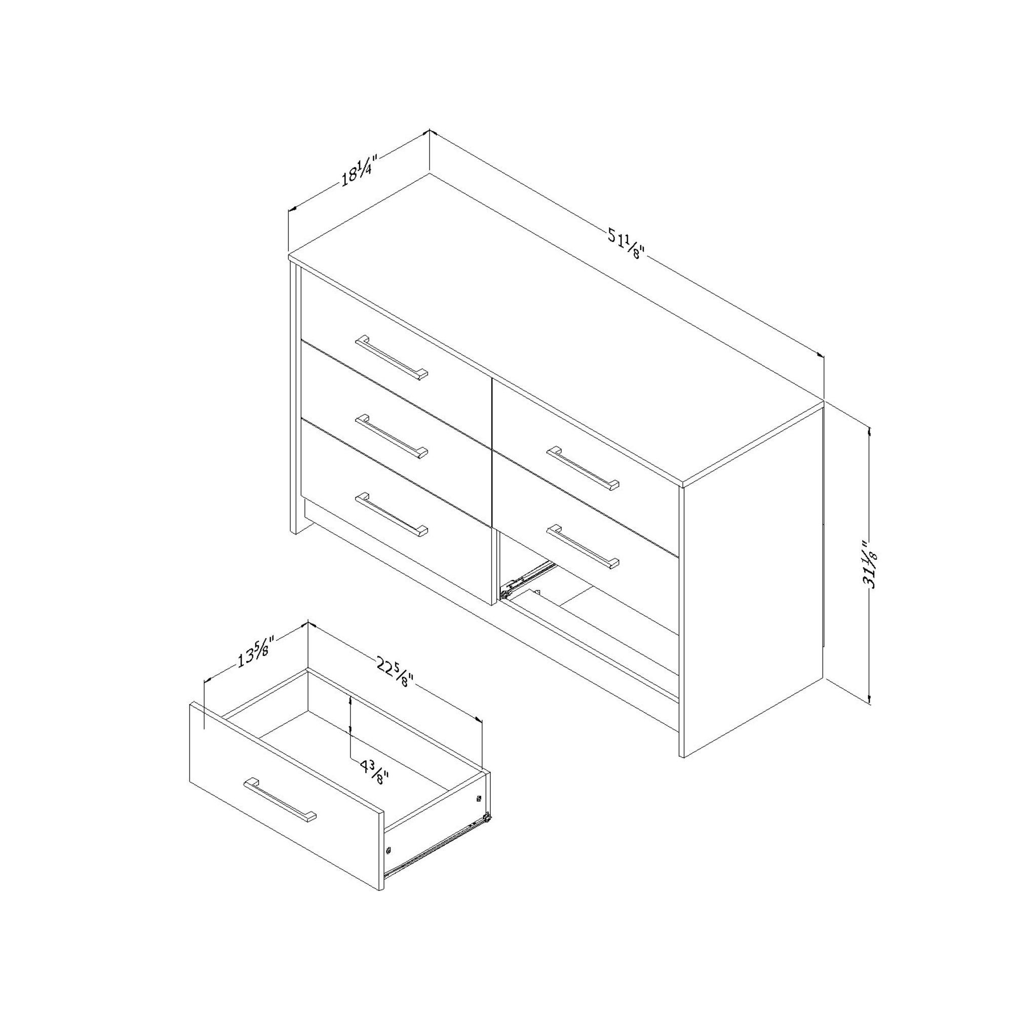 South Shore Londen 6 Drawer Double Dresser Weathered Oak And Ebony Walmart Com Weathered Oak Double Dresser Dresser Drawers [ 2000 x 2000 Pixel ]