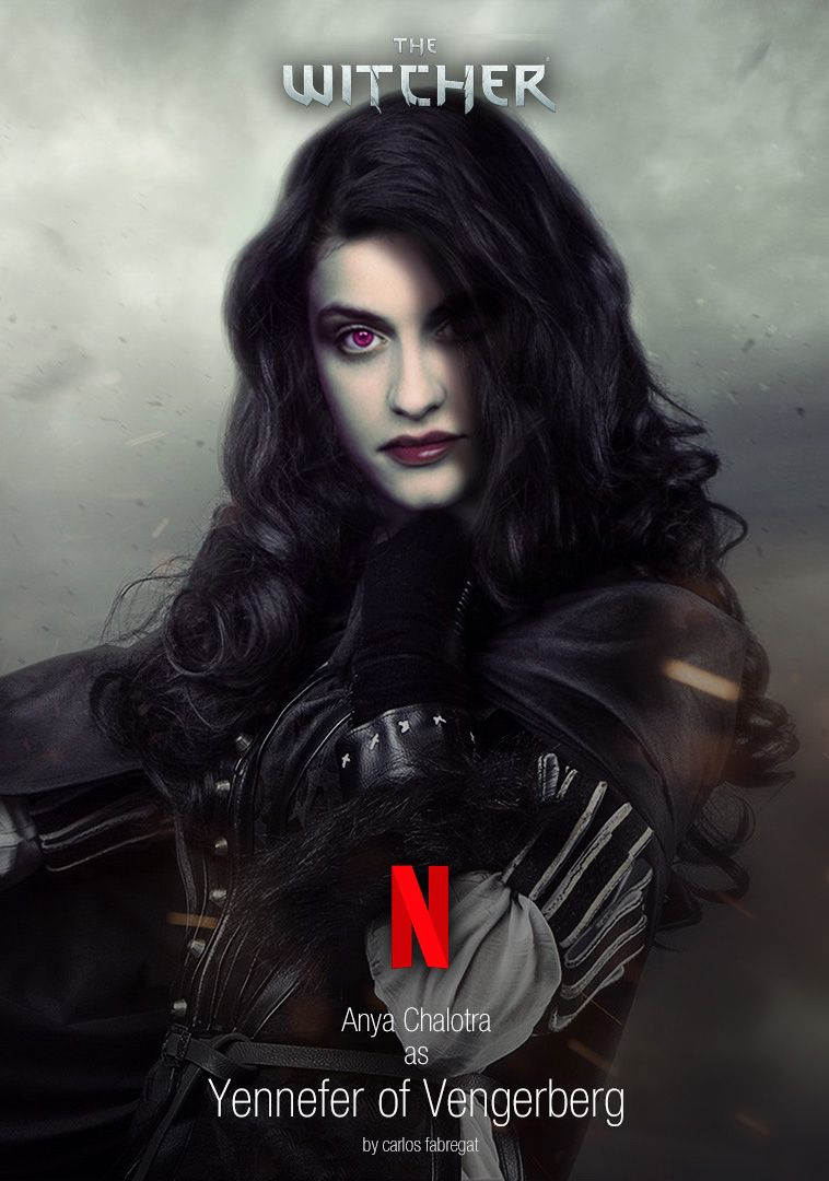 Anya Chalotra Como Yennefer De Vengerberg The Witcher Witcher Art The Witcher Books