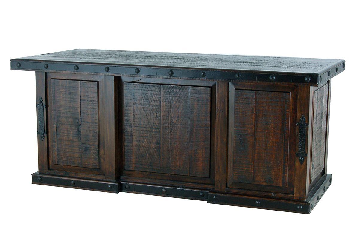 Rustic Americana Hardwood Executive Desk Home Office: Rusticos Sierra Gran Hacienda Executive Desk