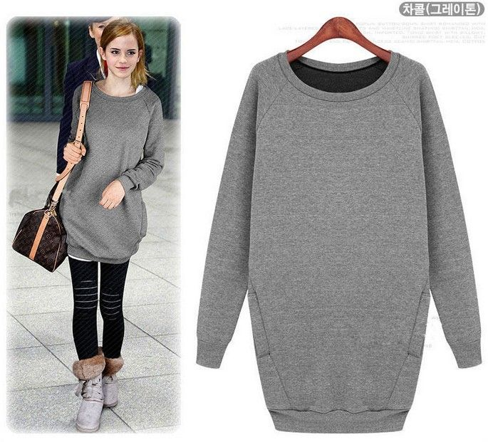 Long sweatshirt hoodie dress | šití - šaty (3) | Pinterest ...