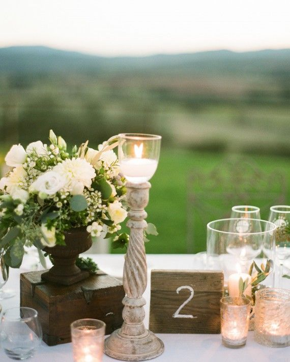 Real Weddings In Tuscany: The Prettiest Wedding Table Number Ideas From Real