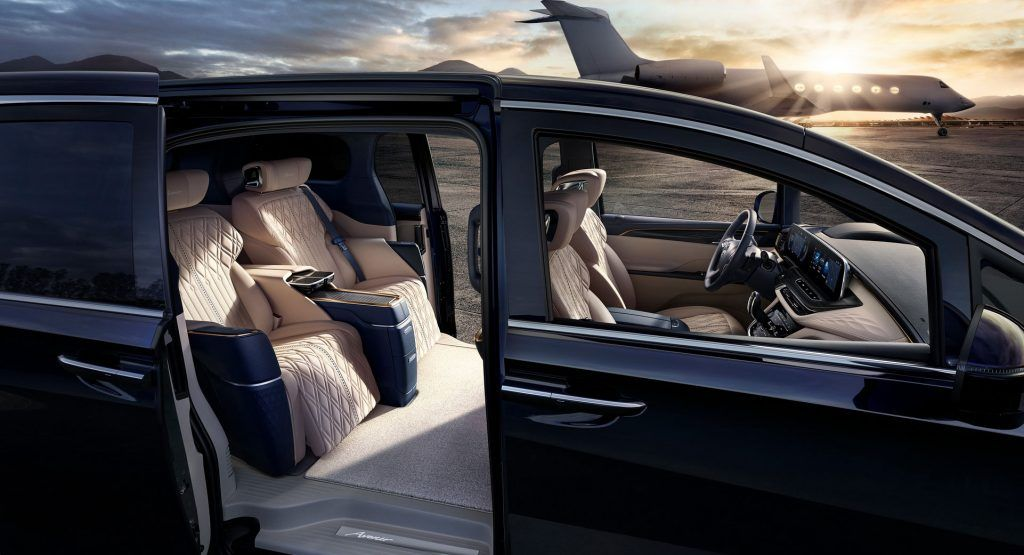 Buick Previews Chinas Production Ready Gl8 Avenir Luxury Minivan For Four In 2020 Mini Van Buick Gl8 Buick