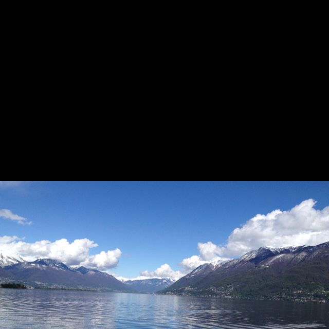 Lake Maggiore seen from Brissago, Switzerland