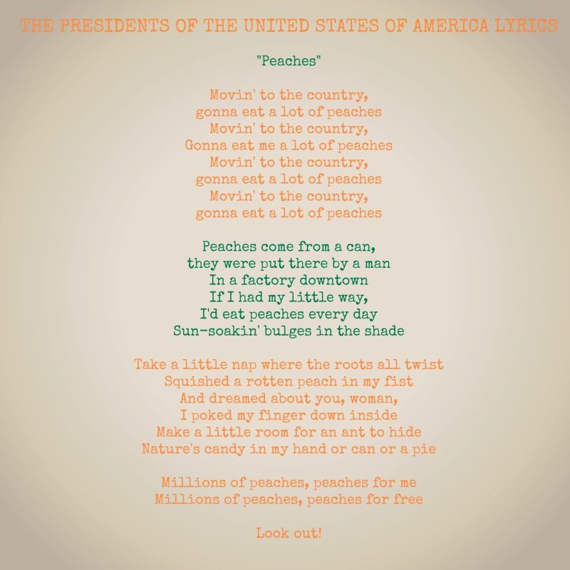 Lyric adelitas way good enough lyrics : The Presidents of the United States of America