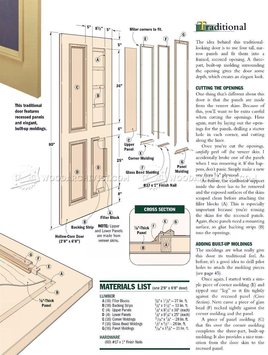 Making Interior Doors Door Construction Ahap Pinterest