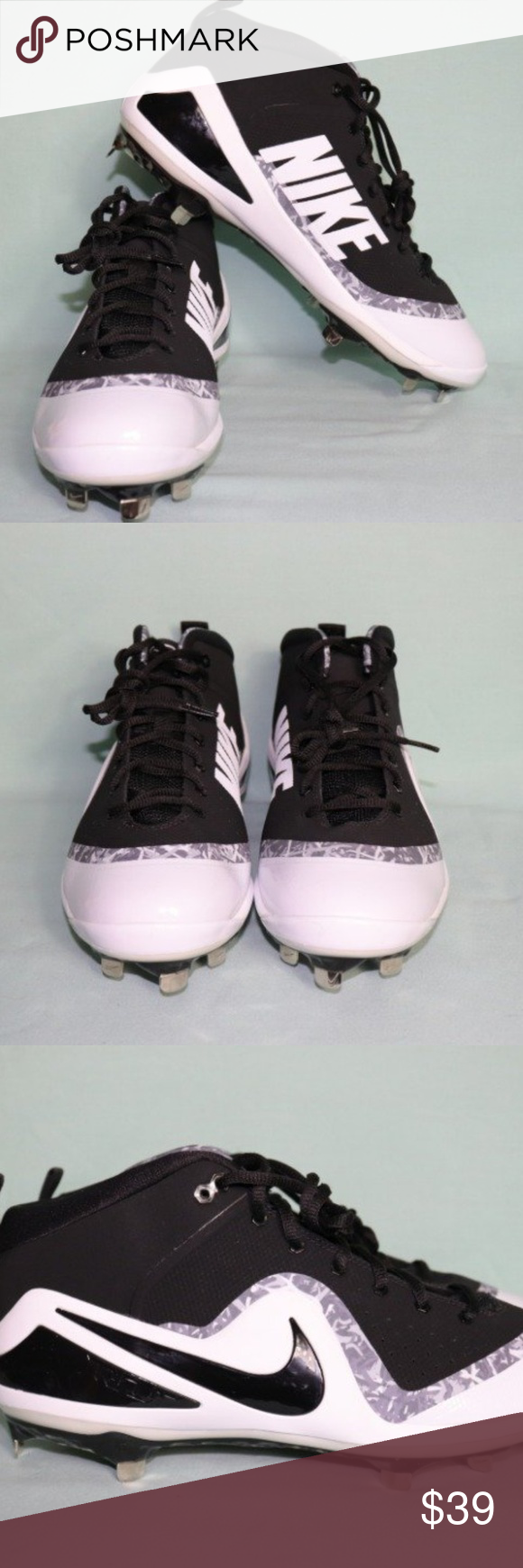 2c9e01d925b51 Baseball Cleat NIKE TROUT 4 Mid Metal Size 12 New without box model  917837-001  NIKE FORCE ZOOM TROUT 4 Mid Metal Mens Baseball Cleats Nike Shoes Athletic  ...