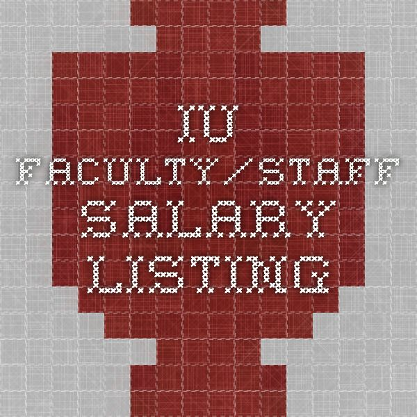 IU Faculty/Staff Salary Listing