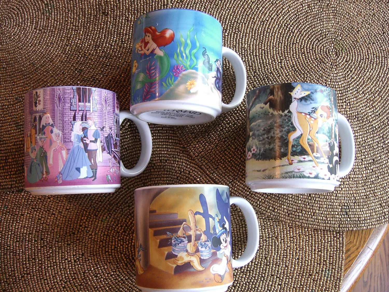 In Of Japan30 MugsCollectiblesMade 00 Four Disney Set Vintage wuPkXiOZT