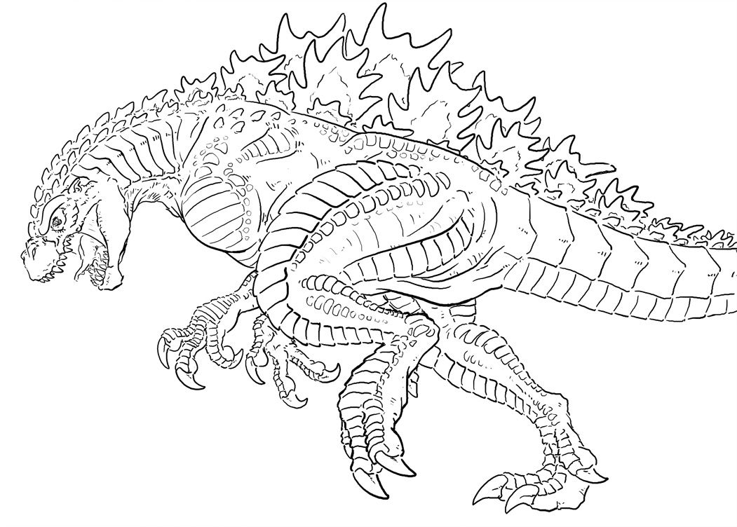 godzilla coloring pages 01 | Crafts | Pinterest