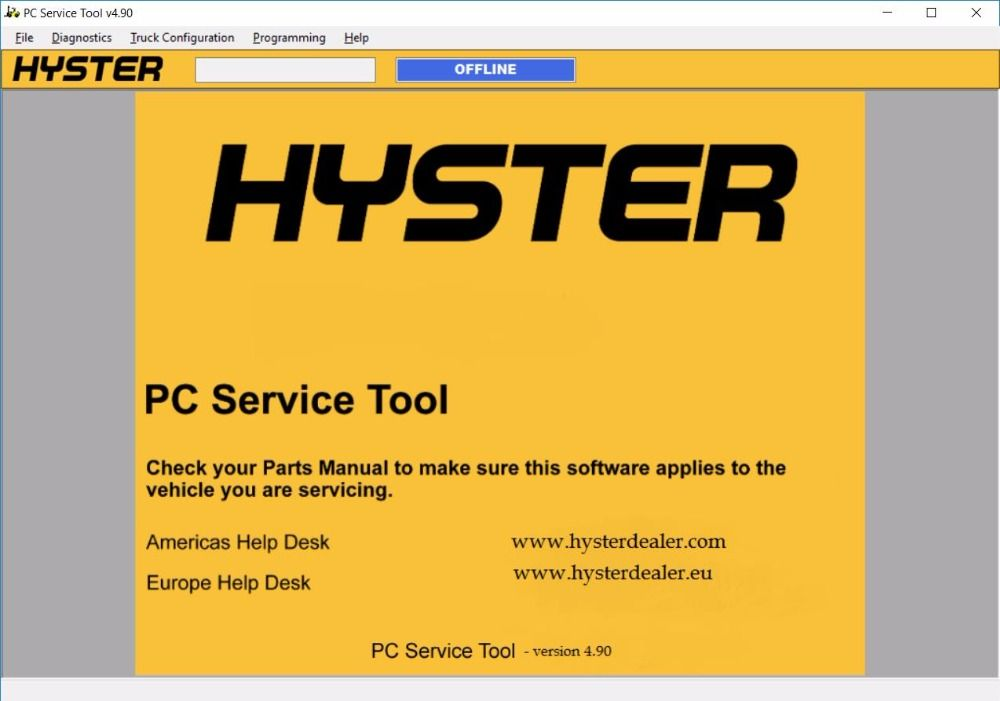 Hyster Pc Service Tool V4 90 2017 With Level 0 4 License For Many Pcs Tools Repair How To Apply