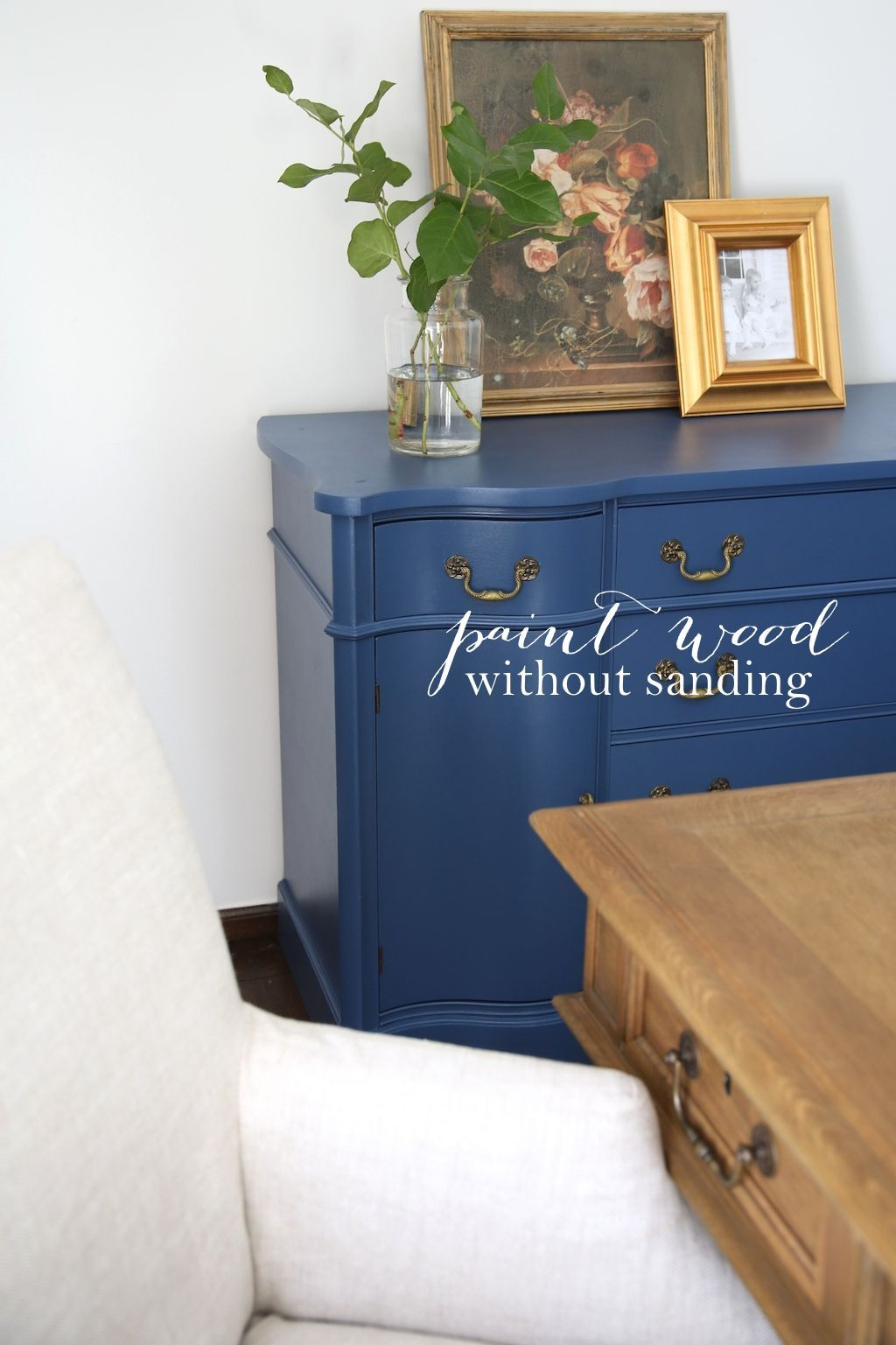 Save time u energy with this quick painting tip for furniture trim