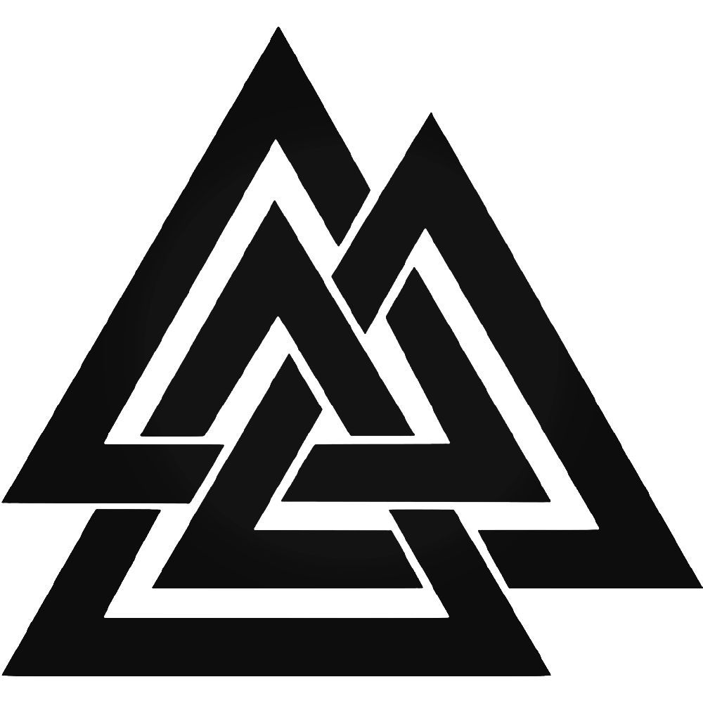 VALKNUT RUNE SYMBOL DECAL VINYL STICKER asatru odin thor norse viking runes