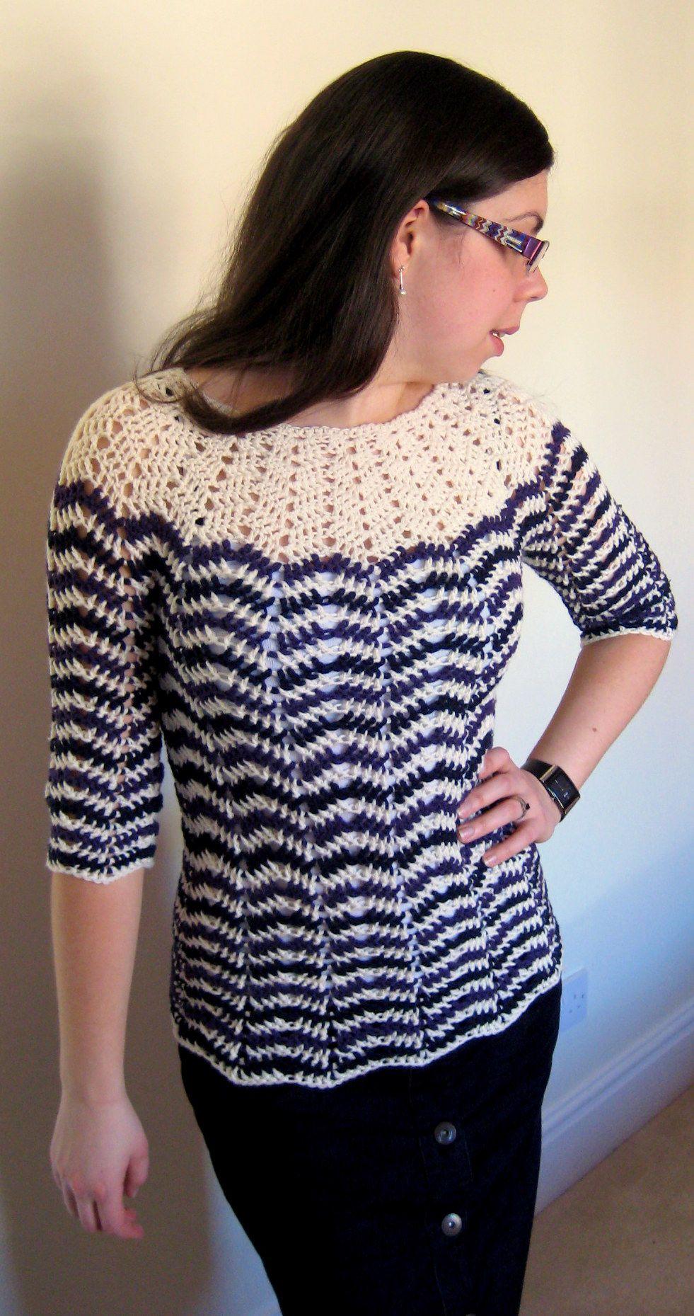 5122153041dc Chevron Stripes 3-Season Sweater - Free Crochet Pattern