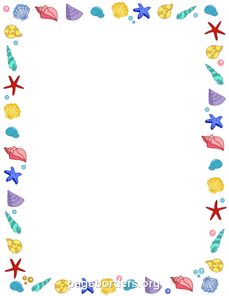 Seashell border bordes margenes pinterest border templates free seashell border templates including printable border paper and clip art versions file formats include gif jpg pdf and png pronofoot35fo Choice Image