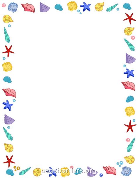 Seashell Border | #printables | Pinterest | Border ...
