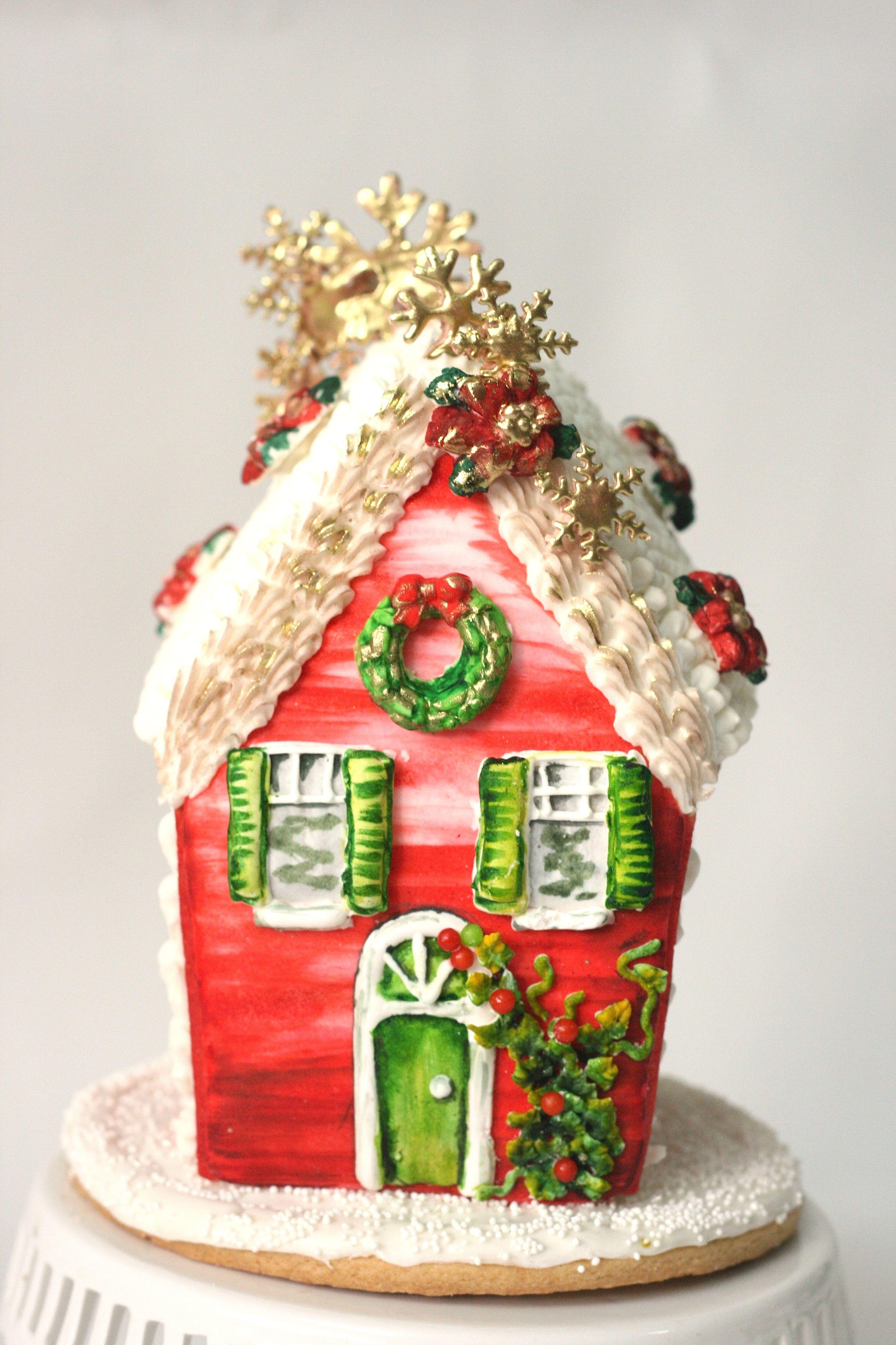 Preciosa casita de jengibre, gingerbread house | Galletas Decoradas ...