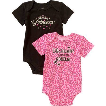 4d5660b94 Newborn Baby Girl Spanish Attitude Bodysuits