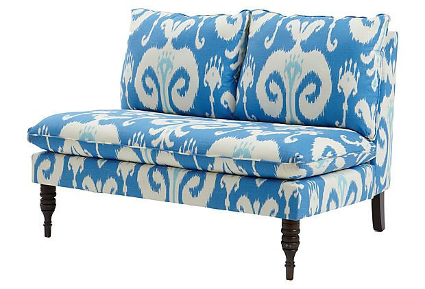 Bacall 49quot Armless Settee Powder Blue One King39s Lane