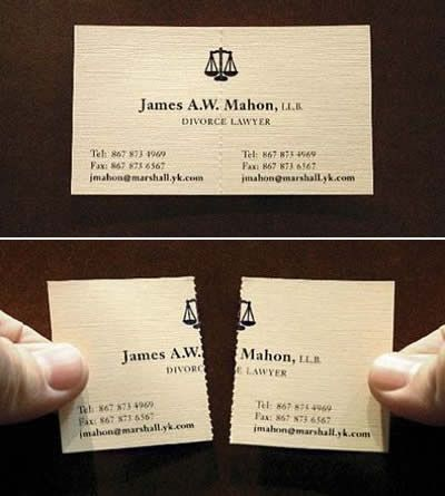 funny business cards divorce lawyer