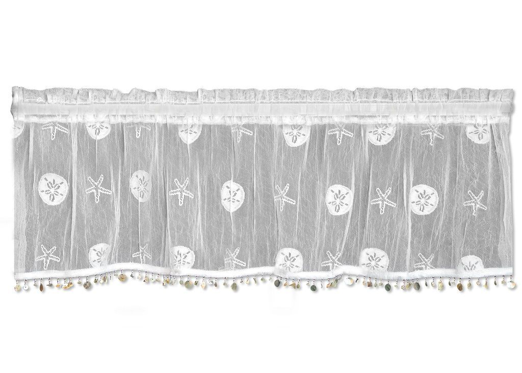 Heritage Lace Starfish Tier with Trim 45 by 24-Inch White
